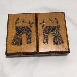 Decorative Wooden Carved Storage Box